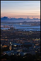 University of California and San Francisco Bay at sunset. Berkeley, California, USA ( color)