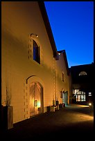 Winery at night, Hess Collection. Napa Valley, California, USA ( color)