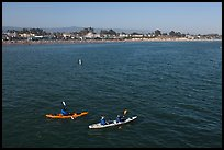 Sea kayakers. Santa Cruz, California, USA (color)