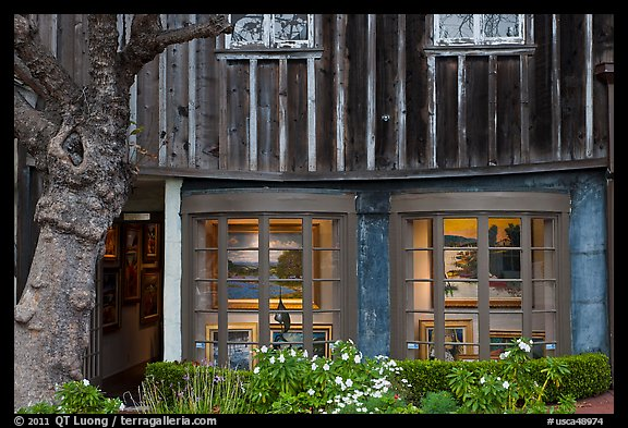 Art gallery housed in old house. Carmel-by-the-Sea, California, USA (color)
