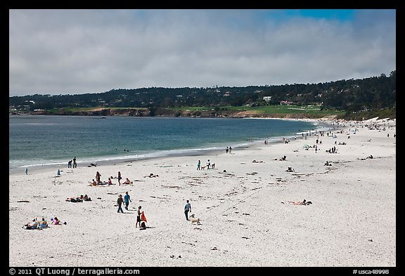 Carmel Beach in summer. Carmel-by-the-Sea, California, USA (color)