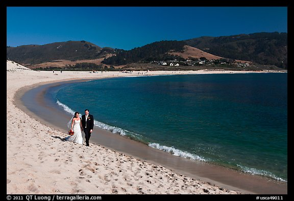 California Groom And Bride Carmel River Beach By The Sea