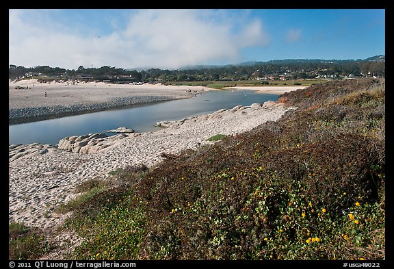 Carmel River and beach. Carmel-by-the-Sea, California, USA (color)