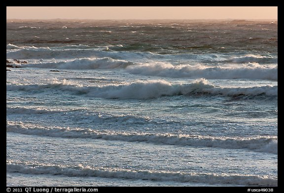 Ocean waves. Carmel-by-the-Sea, California, USA (color)