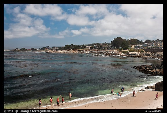 Lovers Point beach. Pacific Grove, California, USA (color)