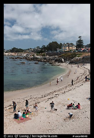 Beach, Lovers Point Park. Pacific Grove, California, USA (color)