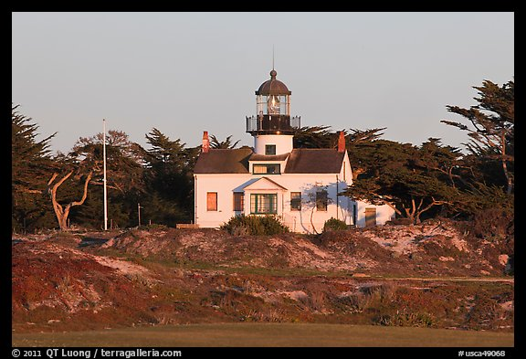Point Pinos Lighthouse, late afternoon. Pacific Grove, California, USA (color)