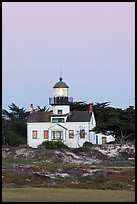 Point Pinos Lighthouse, dusk. Pacific Grove, California, USA (color)