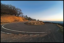 Hairpin curve, Mt Hamilton road. San Jose, California, USA ( color)