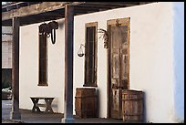 Facade of Luis Maria Peralta Adobe, oldest building in San Jose. San Jose, California, USA (color)