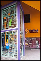 Two-story Rube Goldberg machine, Tech Museum. San Jose, California, USA (color)