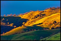 Hills at sunset, Evergreen. San Jose, California, USA ( color)