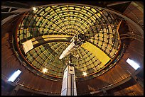 Antique refracting 36 inch telescope. San Jose, California, USA ( color)