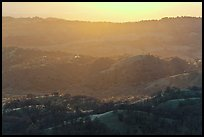 Hills below Mount Hamilton at sunset. San Jose, California, USA ( color)