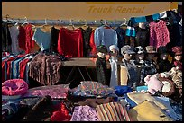 Apparel for sale, San Jose Flee Market. San Jose, California, USA ( color)