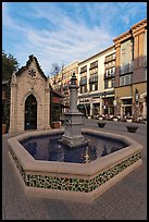 Fountain. Santana Row, San Jose, California, USA ( color)