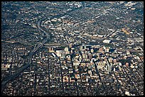 Aerial View of downtown and highways. San Jose, California, USA ( color)