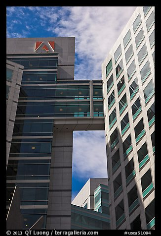 Detail of Adobe Towers. San Jose, California, USA (color)