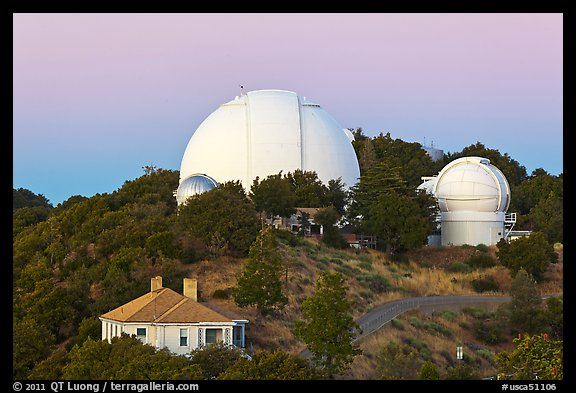 Lick observatory domes. San Jose, California, USA (color)