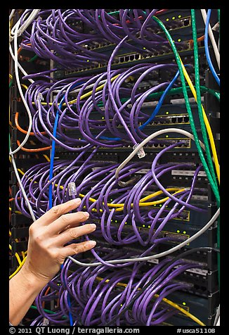Data center equipment. Menlo Park,  California, USA (color)