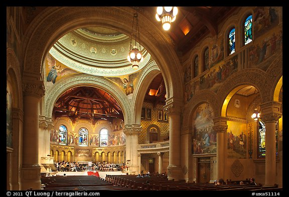 Inside Memorial Church. Stanford University, California, USA (color)