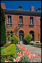 Garden and Filoli House. Woodside,  California, USA (color)