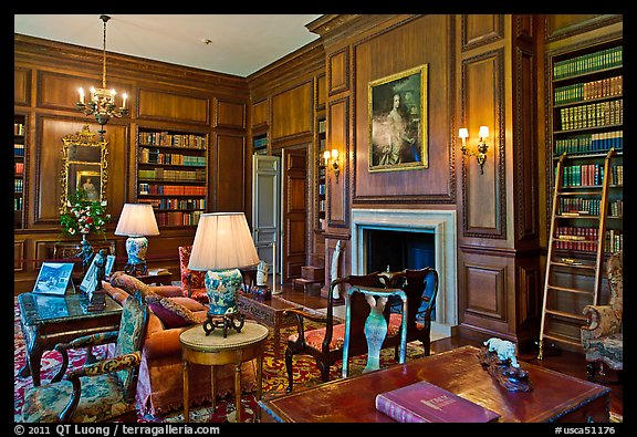 Picture/Photo: Room with antique furnishings, Filoli