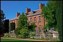 Garden and house, Filoli estate. Woodside,  California, USA ( color)