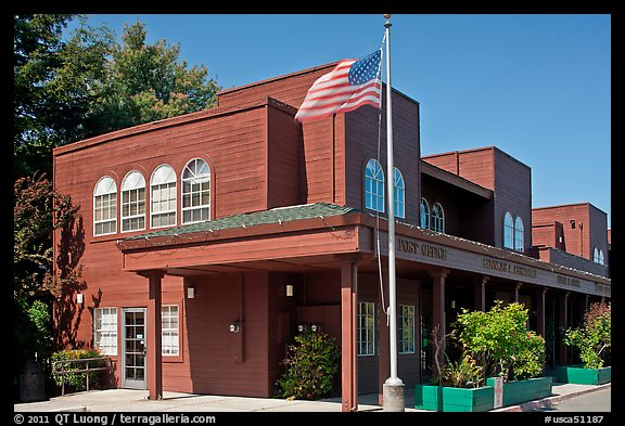 Post Office. Woodside,  California, USA (color)
