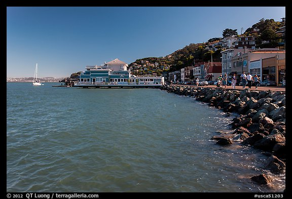 Picture Photo Waterfront Sausalito California Usa