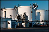 Oil tanks, Richmond. Richmond, California, USA (color)
