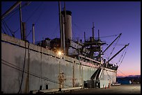 SS Red Oak Victory ship at dusk, Rosie the Riveter National Historical Park. Richmond, California, USA ( color)