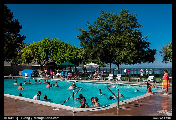 Picture photo public swimming pool mcnears beach county park san pablo bay california usa for Community swimming pools near me