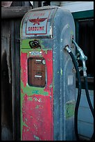 Old gas pump, China Camp State Park. San Pablo Bay, California, USA (color)
