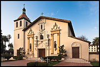 Santa Clara University Mission Church. Santa Clara,  California, USA (color)