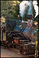 Steam locomotive, Roaring Camp Train, Felton. California, USA ( color)