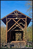 Felton Covered Bridge, tallest in America. California, USA ( color)