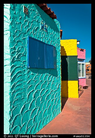 Colorful beach houses. Capitola, California, USA (color)