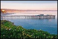 Capitola fishing wharf at sunset. Capitola, California, USA (color)