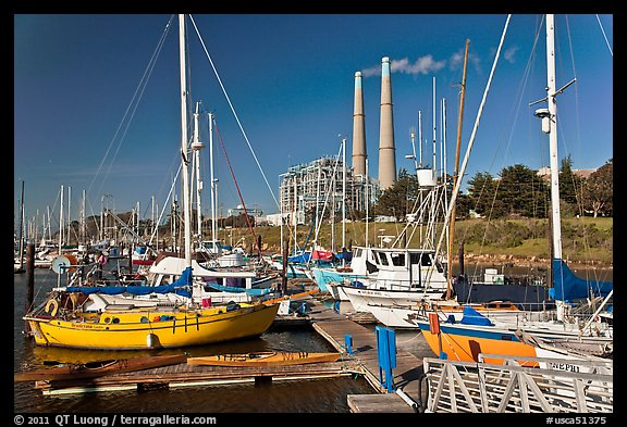 Harbor and power plant, Moss Landing. California, USA (color)