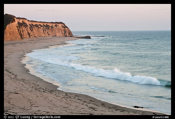 Waddel Creek Beach at sunset. California, USA (color)