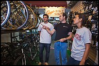 Bicycle shopping. Stanford University, California, USA ( color)
