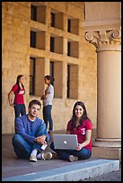 Stanford students. Stanford University, California, USA ( color)