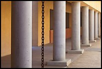 Columns in Palm Courtyard, Schwab Residential Center. Stanford University, California, USA (color)