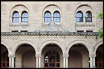 Encina Hall facade. Stanford University, California, USA (color)
