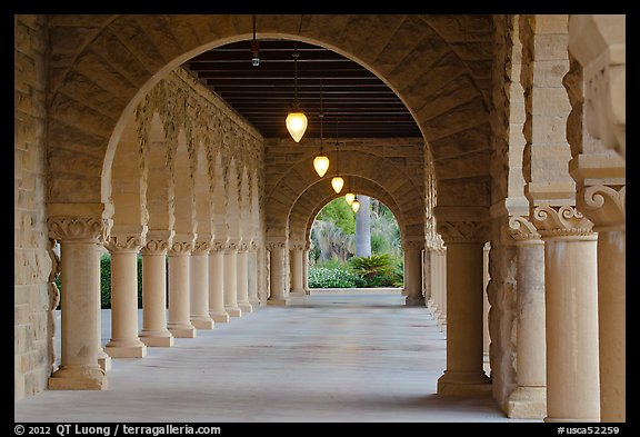 List Of Universities In Usa >> Picture/Photo: Main Quad hallway. Stanford University ...