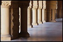 Columns in Main Quad. Stanford University, California, USA (color)