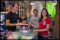 Credit card transaction, Campus Bike Shop. Stanford University, California, USA ( color)
