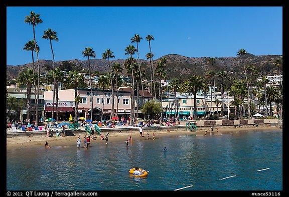 Avalon Bay Beach Santa Catalina Island California Usa