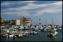 Harbor and casino, Avalon Bay, Santa Catalina Island. California, USA ( color)